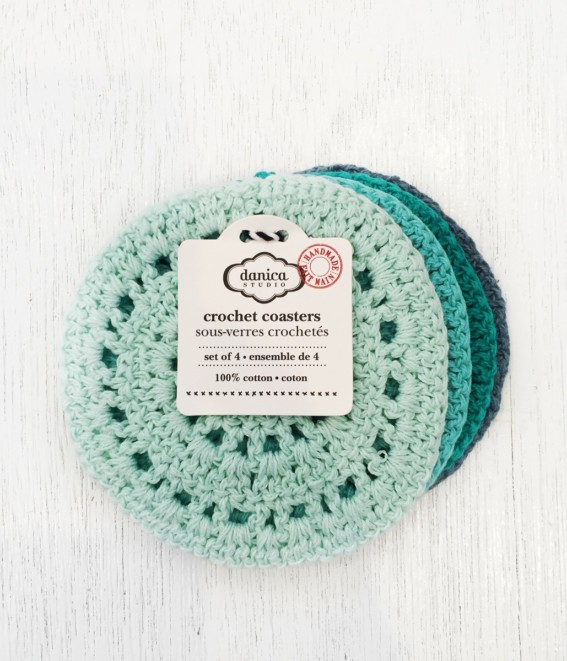 Twig-and-feather-crochet-coasters-cascade-set
