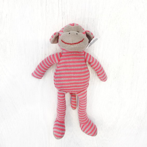 Twig-and-feather-knit-monkey-pink