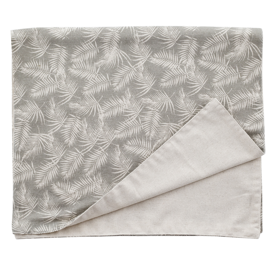 Table Runner Palm U2013 Taupe