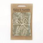 Taupe palm print tea towel